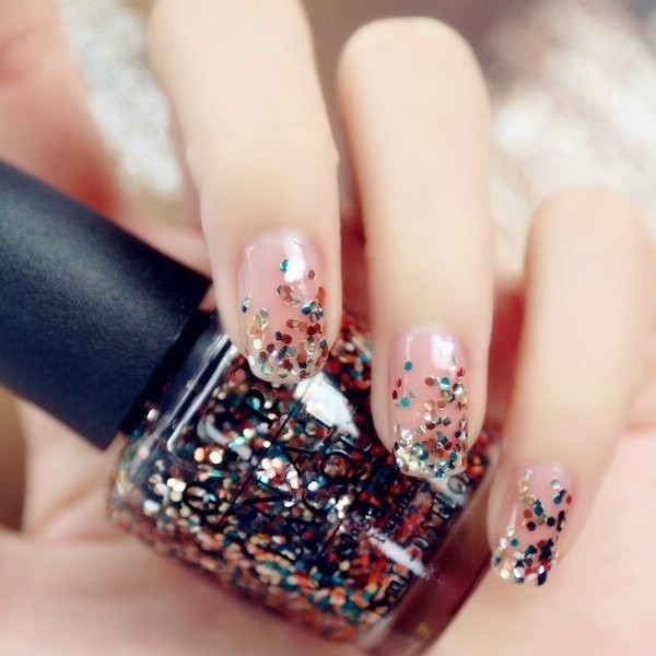 glitter-nail-art-ideas-105 89+ Glitter Nail Art Designs for Shiny & Sparkly Nails