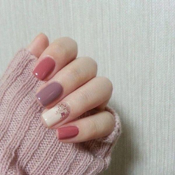 glitter-nail-art-ideas-108 89+ Glitter Nail Art Designs for Shiny & Sparkly Nails
