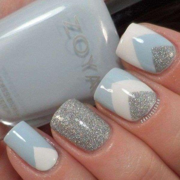 glitter-nail-art-ideas-109 89+ Glitter Nail Art Designs for Shiny & Sparkly Nails