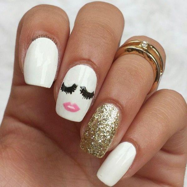 glitter-nail-art-ideas-111 89+ Glitter Nail Art Designs for Shiny & Sparkly Nails