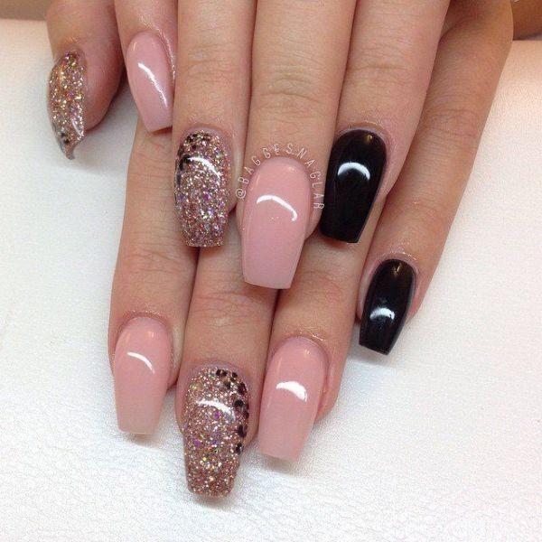 glitter-nail-art-ideas-113 89+ Glitter Nail Art Designs for Shiny & Sparkly Nails