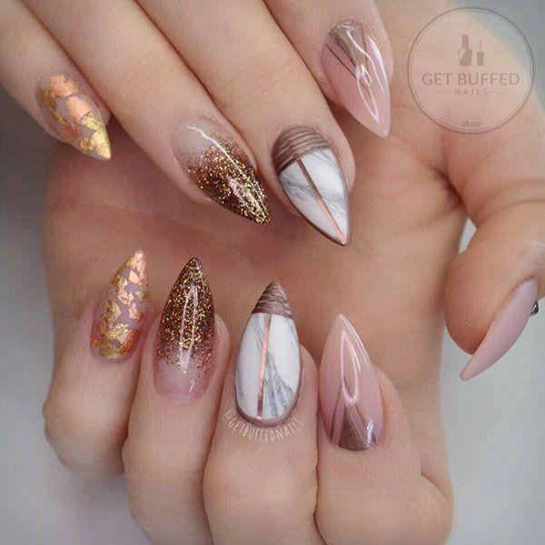 glitter-nail-art-ideas-117 89+ Glitter Nail Art Designs for Shiny & Sparkly Nails