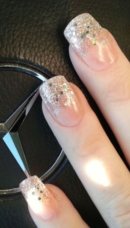 glitter-nail-art-ideas-12 89+ Glitter Nail Art Designs for Shiny & Sparkly Nails