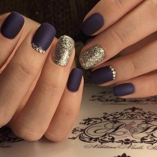 glitter-nail-art-ideas-120 89+ Glitter Nail Art Designs for Shiny & Sparkly Nails