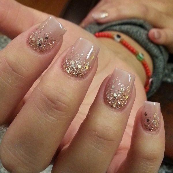 glitter-nail-art-ideas-122 89+ Glitter Nail Art Designs for Shiny & Sparkly Nails