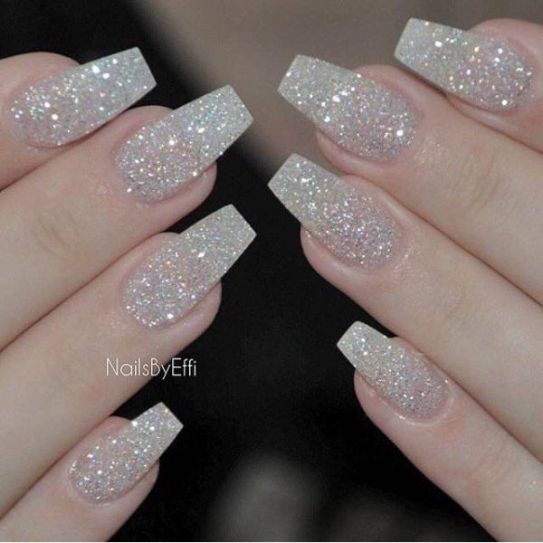 glitter-nail-art-ideas-123 89+ Glitter Nail Art Designs for Shiny & Sparkly Nails