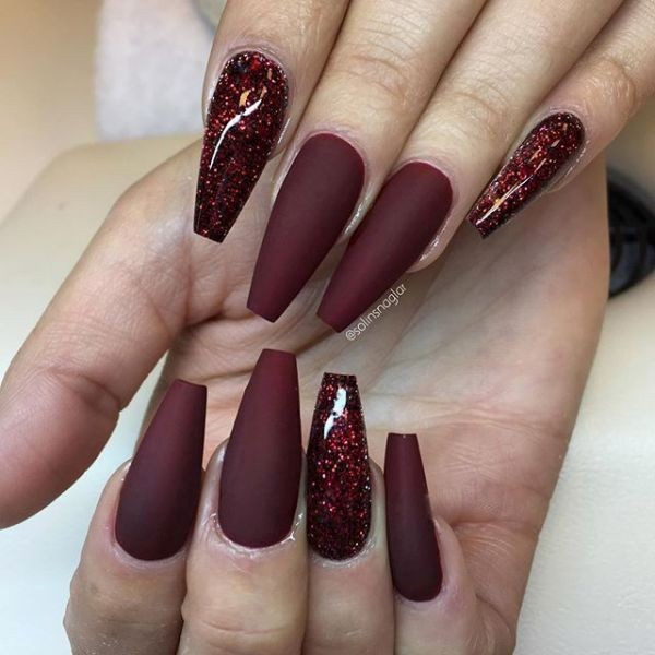 glitter-nail-art-ideas-125 89+ Glitter Nail Art Designs for Shiny & Sparkly Nails