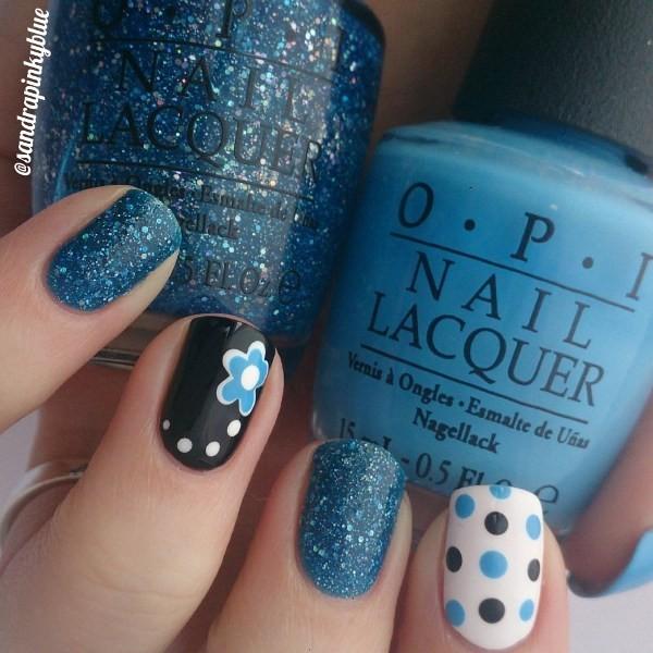glitter-nail-art-ideas-126 89+ Glitter Nail Art Designs for Shiny & Sparkly Nails