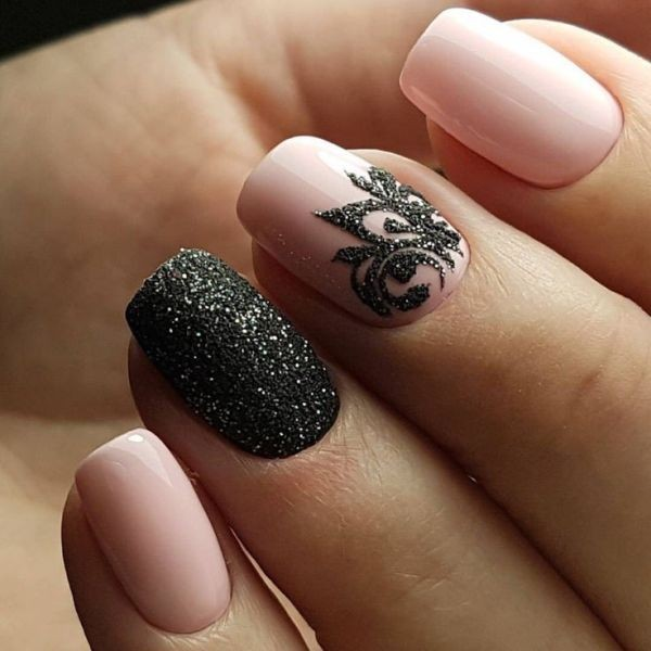 glitter-nail-art-ideas-127 89+ Glitter Nail Art Designs for Shiny & Sparkly Nails