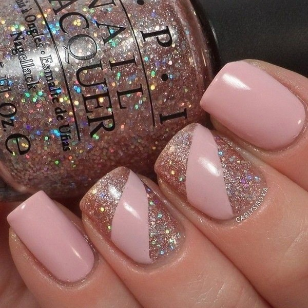 glitter-nail-art-ideas-129 89+ Glitter Nail Art Designs for Shiny & Sparkly Nails