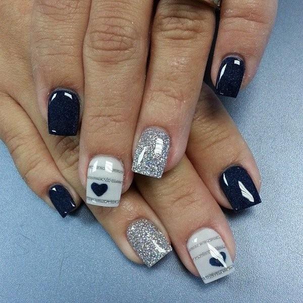 glitter-nail-art-ideas-132 89+ Glitter Nail Art Designs for Shiny & Sparkly Nails