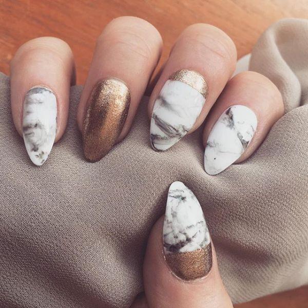 glitter-nail-art-ideas-134 89+ Glitter Nail Art Designs for Shiny & Sparkly Nails
