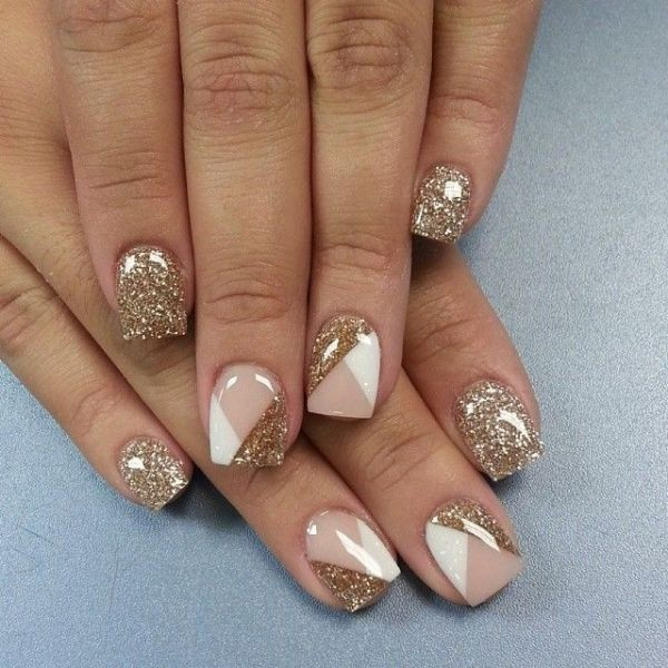 glitter-nail-art-ideas-136 89+ Glitter Nail Art Designs for Shiny & Sparkly Nails