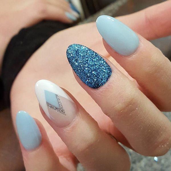 glitter-nail-art-ideas-137 89+ Glitter Nail Art Designs for Shiny & Sparkly Nails