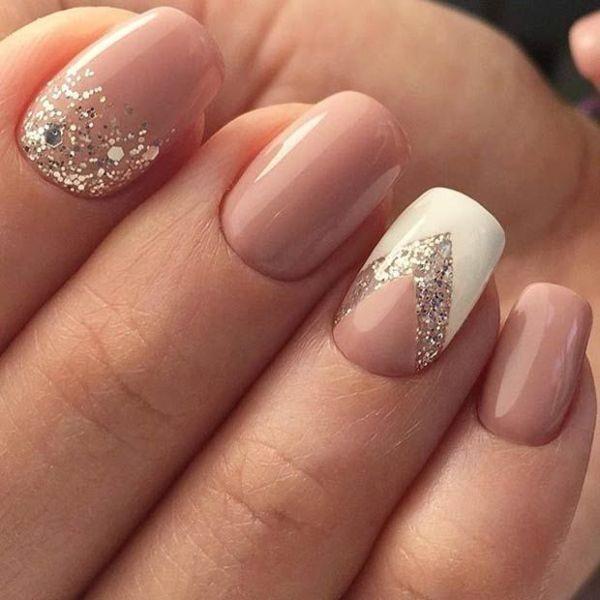 glitter-nail-art-ideas-138 89+ Glitter Nail Art Designs for Shiny & Sparkly Nails