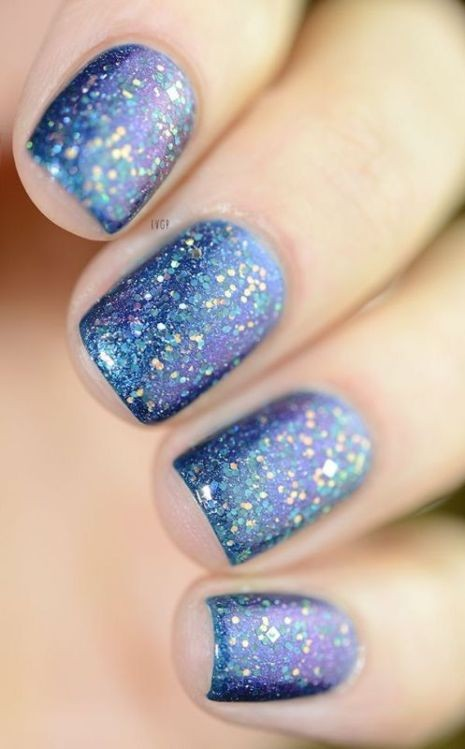 glitter-nail-art-ideas-14 89+ Glitter Nail Art Designs for Shiny & Sparkly Nails