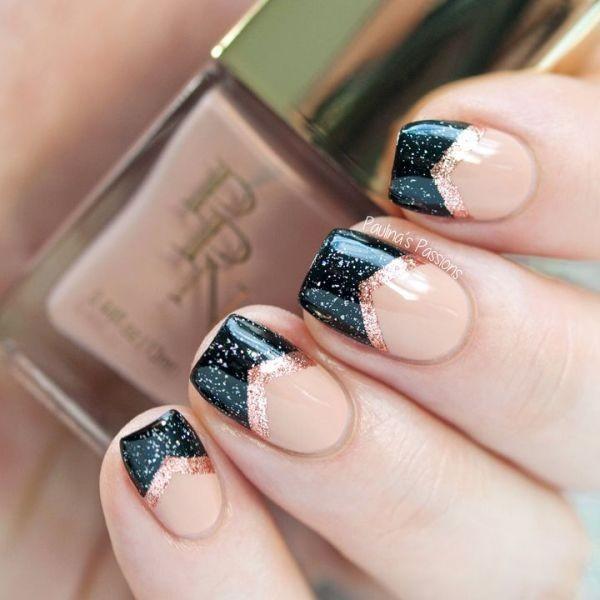 glitter-nail-art-ideas-141 89+ Glitter Nail Art Designs for Shiny & Sparkly Nails
