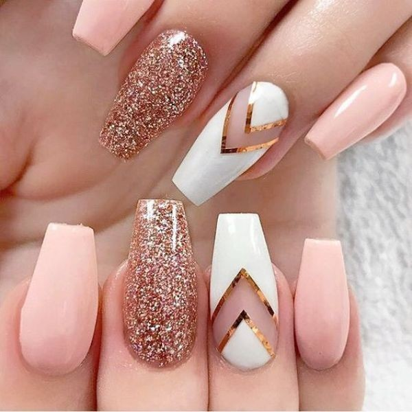 glitter-nail-art-ideas-143 89+ Glitter Nail Art Designs for Shiny & Sparkly Nails