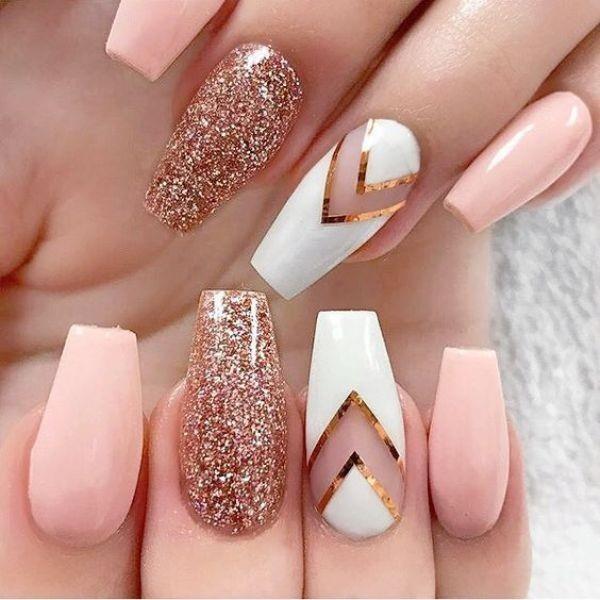 glitter-nail-art-ideas-143 89+ Glitter Nail Art Designs for Shiny & Sparkly Nails