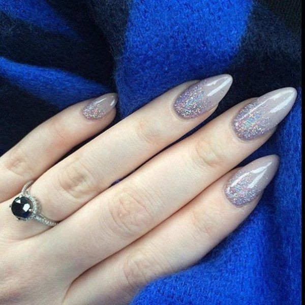 glitter-nail-art-ideas-144 89+ Glitter Nail Art Designs for Shiny & Sparkly Nails