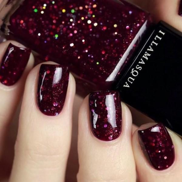 glitter-nail-art-ideas-145 89+ Glitter Nail Art Designs for Shiny & Sparkly Nails