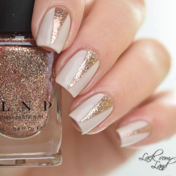 glitter-nail-art-ideas-146 89+ Glitter Nail Art Designs for Shiny & Sparkly Nails