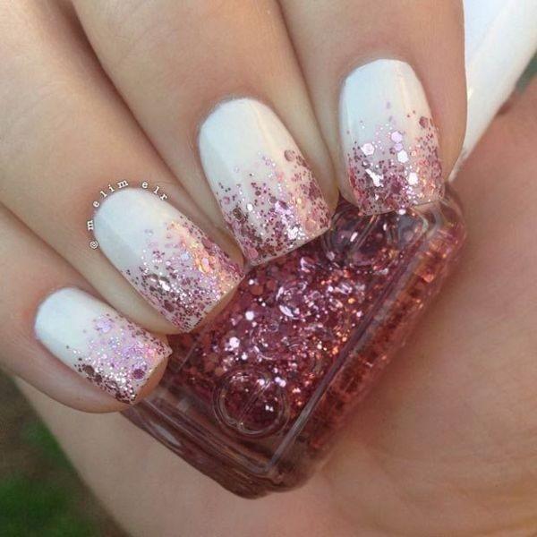 glitter-nail-art-ideas-149 89+ Glitter Nail Art Designs for Shiny & Sparkly Nails
