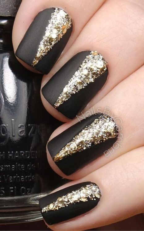 glitter-nail-art-ideas-15 89+ Glitter Nail Art Designs for Shiny & Sparkly Nails