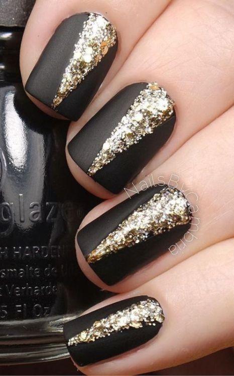 glitter-nail-art-ideas-15 89+ Glitter Nail Art Designs for Shiny & Sparkly Nails