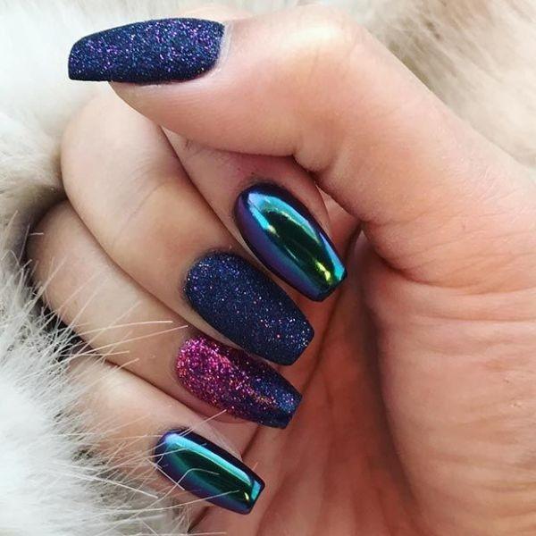 glitter-nail-art-ideas-150 89+ Glitter Nail Art Designs for Shiny & Sparkly Nails