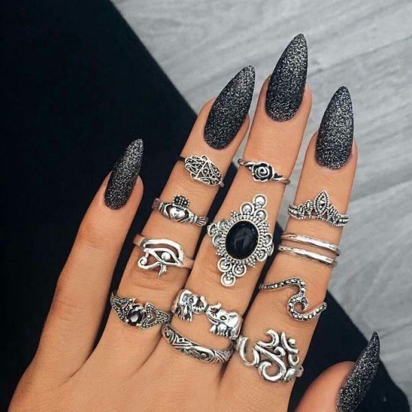 glitter-nail-art-ideas-151 89+ Glitter Nail Art Designs for Shiny & Sparkly Nails