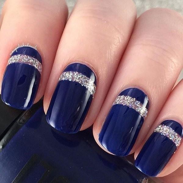 glitter-nail-art-ideas-152 89+ Glitter Nail Art Designs for Shiny & Sparkly Nails