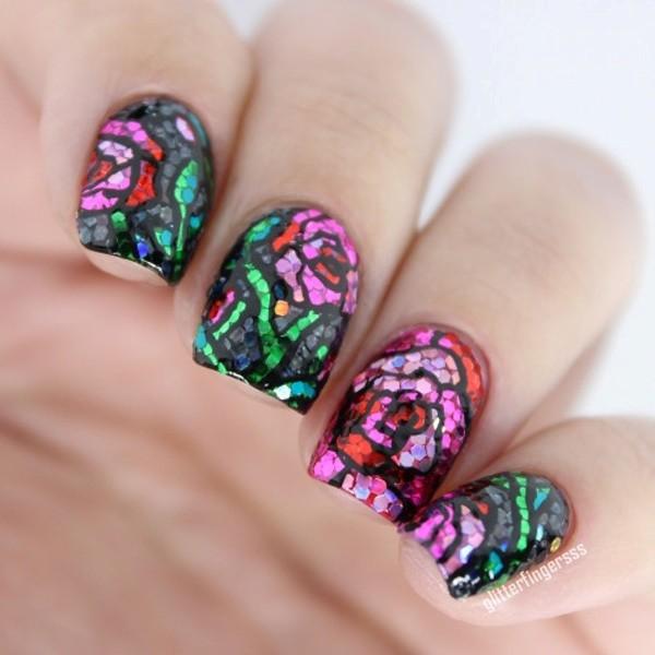 glitter-nail-art-ideas-157 89+ Glitter Nail Art Designs for Shiny & Sparkly Nails