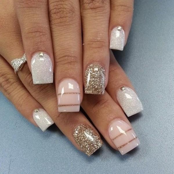 glitter-nail-art-ideas-158 89+ Glitter Nail Art Designs for Shiny & Sparkly Nails
