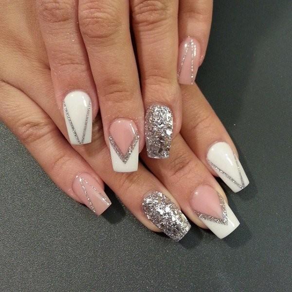 glitter-nail-art-ideas-160 89+ Glitter Nail Art Designs for Shiny & Sparkly Nails