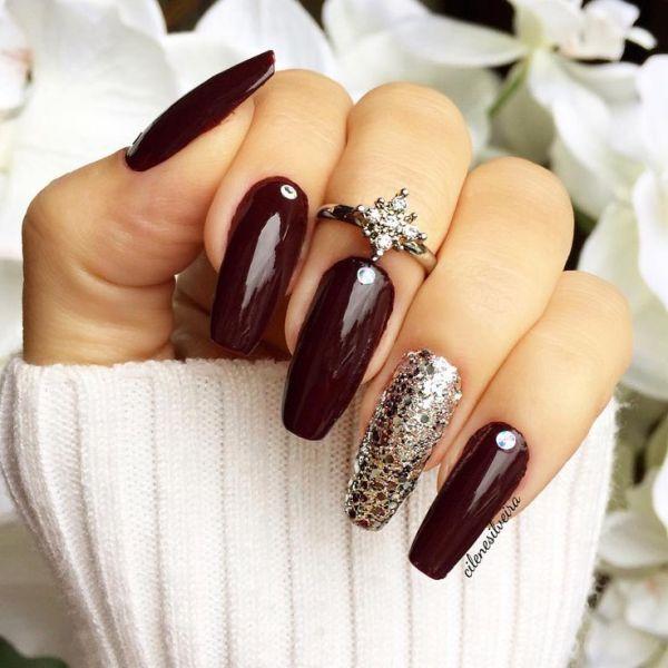 glitter-nail-art-ideas-161 89+ Glitter Nail Art Designs for Shiny & Sparkly Nails