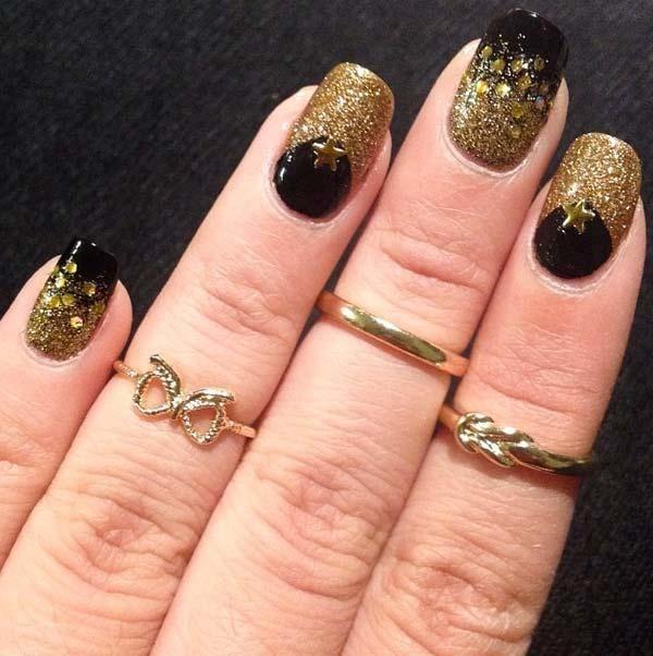 glitter-nail-art-ideas-162 89+ Glitter Nail Art Designs for Shiny & Sparkly Nails