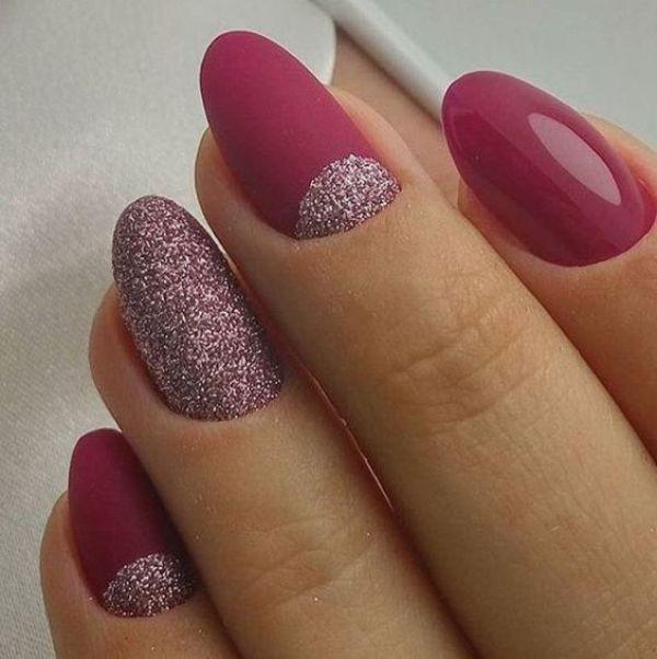 glitter-nail-art-ideas-163 89+ Glitter Nail Art Designs for Shiny & Sparkly Nails
