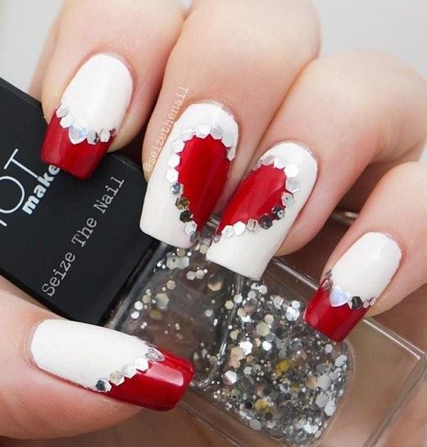 glitter-nail-art-ideas-169 89+ Glitter Nail Art Designs for Shiny & Sparkly Nails