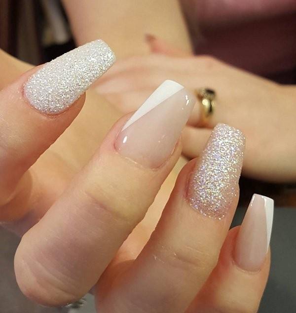 glitter-nail-art-ideas-170 89+ Glitter Nail Art Designs for Shiny & Sparkly Nails