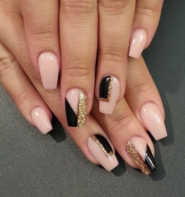 glitter-nail-art-ideas-171 89+ Glitter Nail Art Designs for Shiny & Sparkly Nails