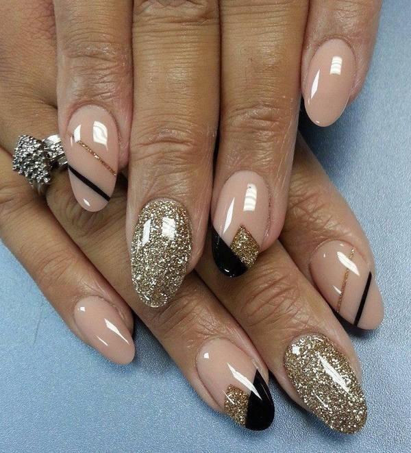 glitter-nail-art-ideas-173 89+ Glitter Nail Art Designs for Shiny & Sparkly Nails