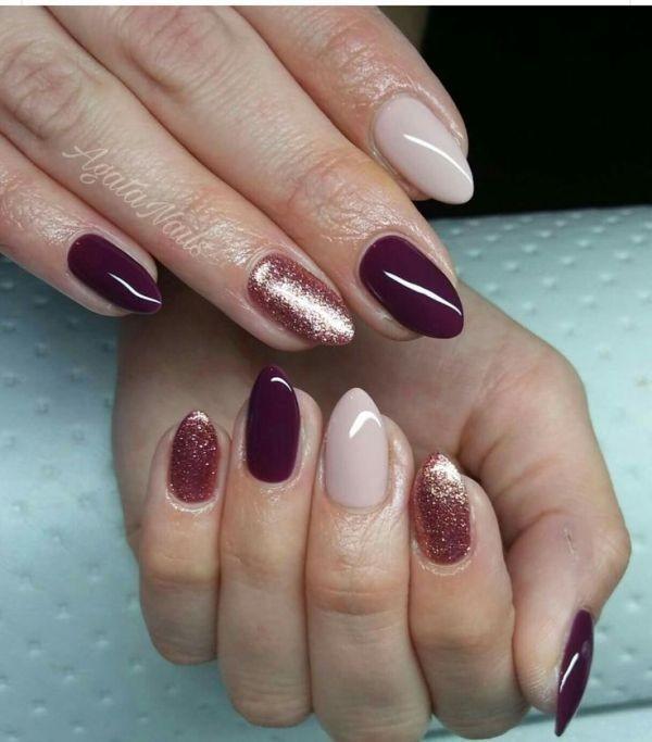 glitter-nail-art-ideas-174 89+ Glitter Nail Art Designs for Shiny & Sparkly Nails