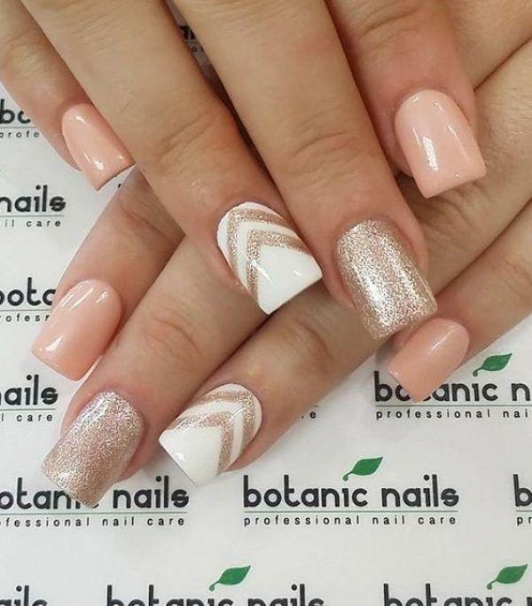 glitter-nail-art-ideas-175 89+ Glitter Nail Art Designs for Shiny & Sparkly Nails
