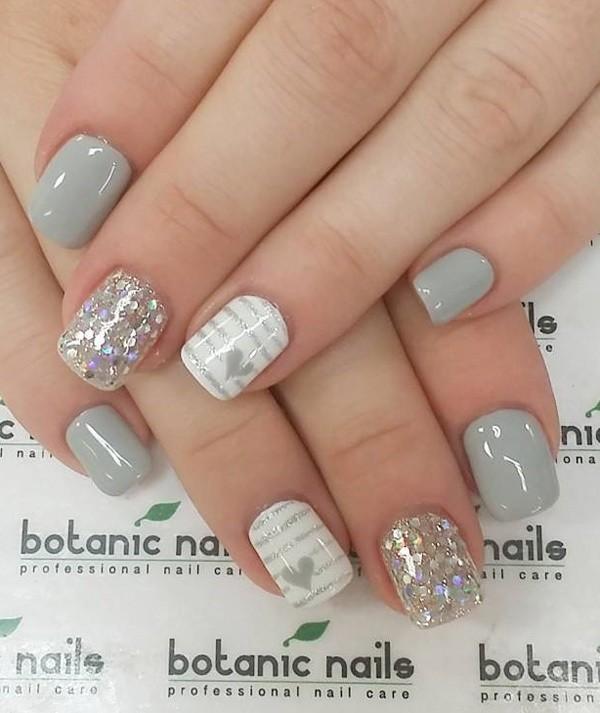 glitter-nail-art-ideas-177 89+ Glitter Nail Art Designs for Shiny & Sparkly Nails