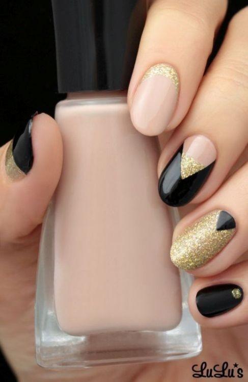glitter-nail-art-ideas-18 89+ Glitter Nail Art Designs for Shiny & Sparkly Nails