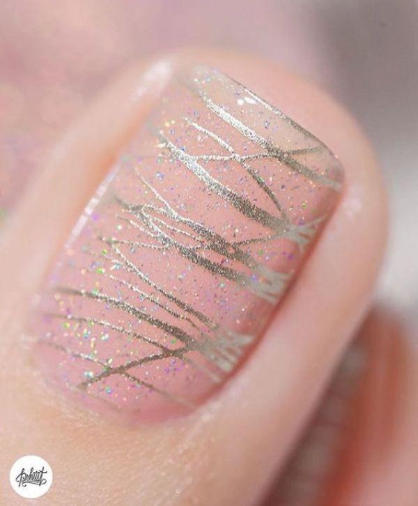glitter-nail-art-ideas-180 89+ Glitter Nail Art Designs for Shiny & Sparkly Nails