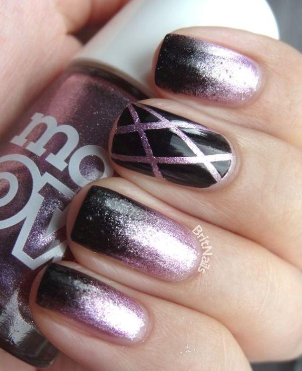 glitter-nail-art-ideas-181 89+ Glitter Nail Art Designs for Shiny & Sparkly Nails