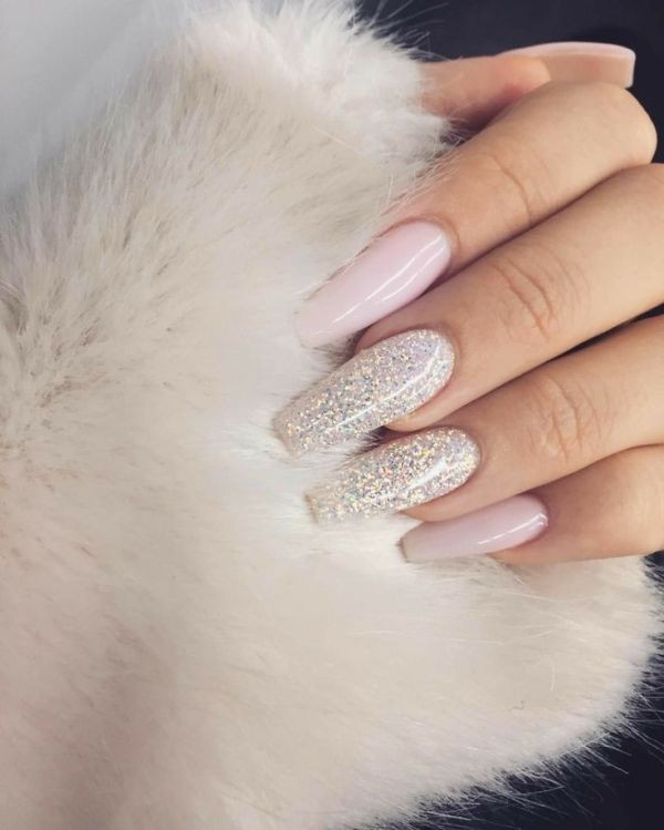 glitter-nail-art-ideas-185 89+ Glitter Nail Art Designs for Shiny & Sparkly Nails