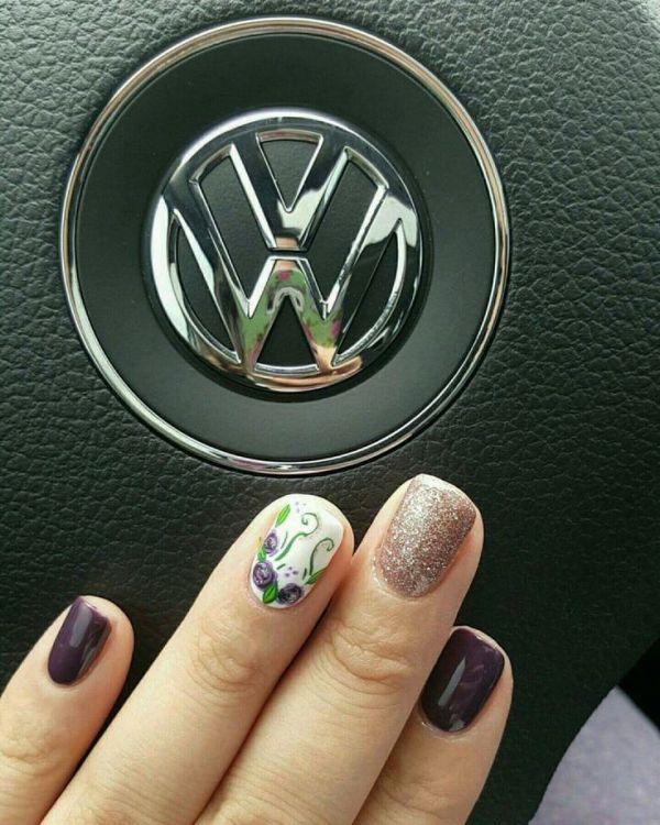 glitter-nail-art-ideas-186 89+ Glitter Nail Art Designs for Shiny & Sparkly Nails